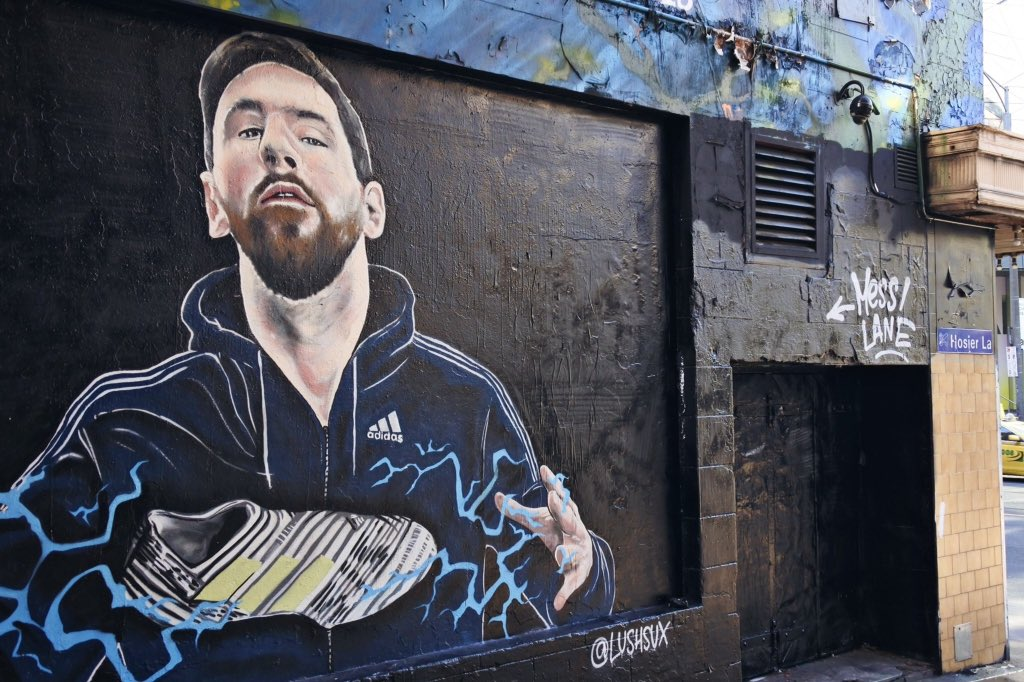 messi portrait streetart foot coupedumonde radar - Coupe du Monde de football 2018 : les plus belles œuvres de street art !