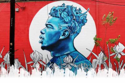 street art football portrait paul pogba brandan BMike odums 400x268 - Coupe du Monde de football 2018 : les plus belles œuvres de street art !