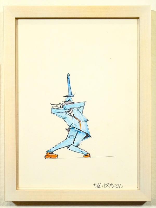 taku obata radar sculpture art hiphop dessin 3 - BUST A MOVE : Taku Obata célèbre le breakdance en sculptant des danseurs en plein mouvement