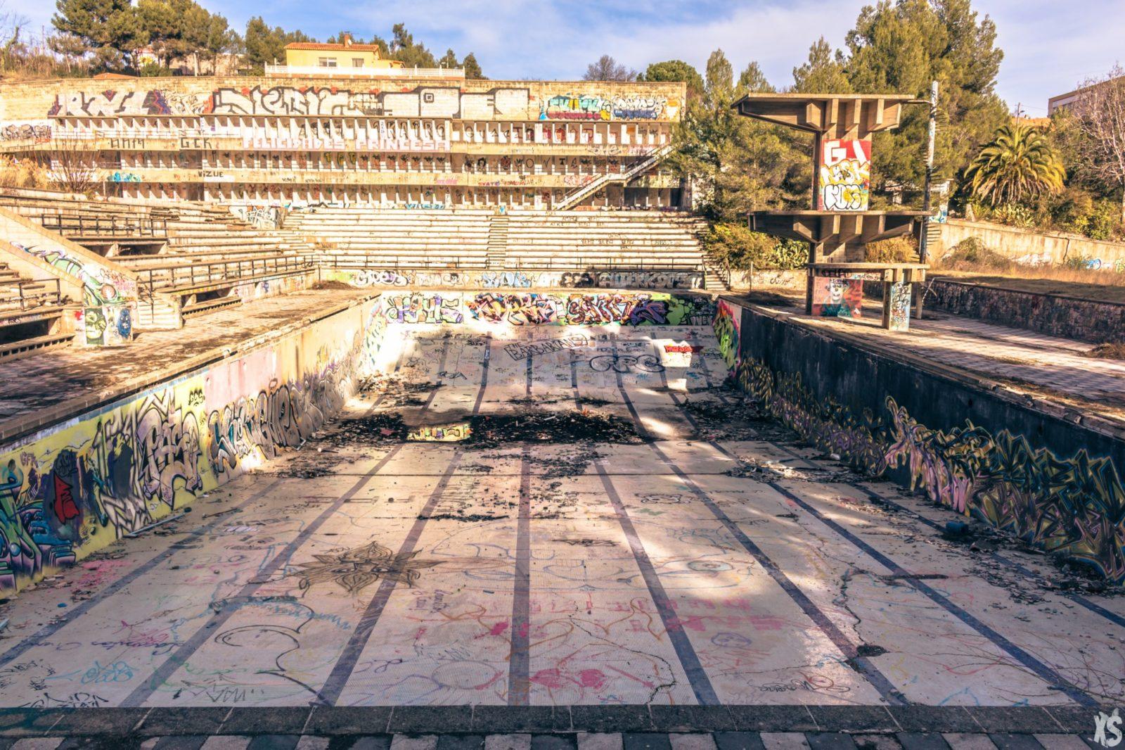 Piscine olympique de la Vega 12urbex radar exlporation piscine abandon fantome - Piscines olympiques et parcs aquatiques : les plus beaux spots abandonnés