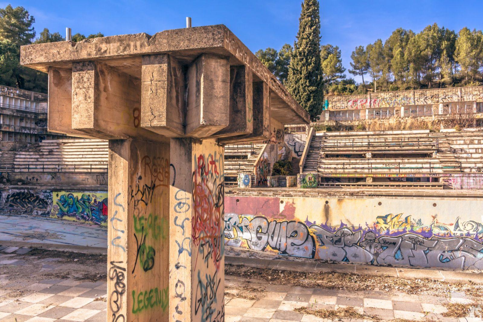 Piscine olympique de la Vega 7urbex radar exlporation piscine abandon fantome - Piscines olympiques et parcs aquatiques : les plus beaux spots abandonnés