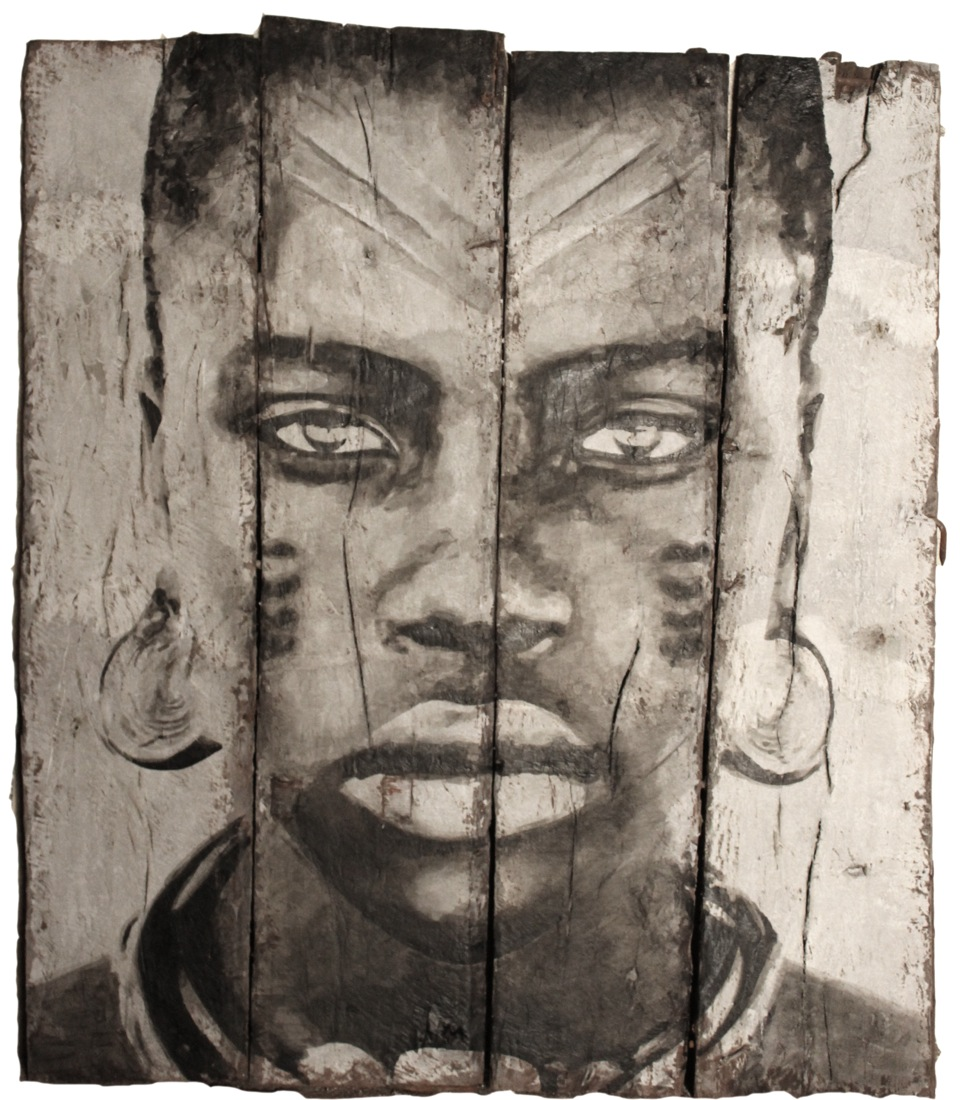 YZ street artiste portrait femme amazone bois guerriere RADAR art urbain poste Marianne - YZ, la street artiste engagée derrière la nouvelle Marianne