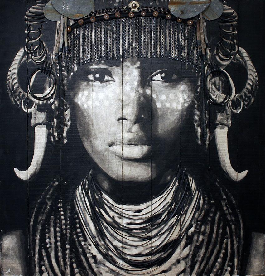 YZ street artiste portrait femme parures empress behati RADAR art urbain poste Marianne - YZ, la street artiste engagée derrière la nouvelle Marianne