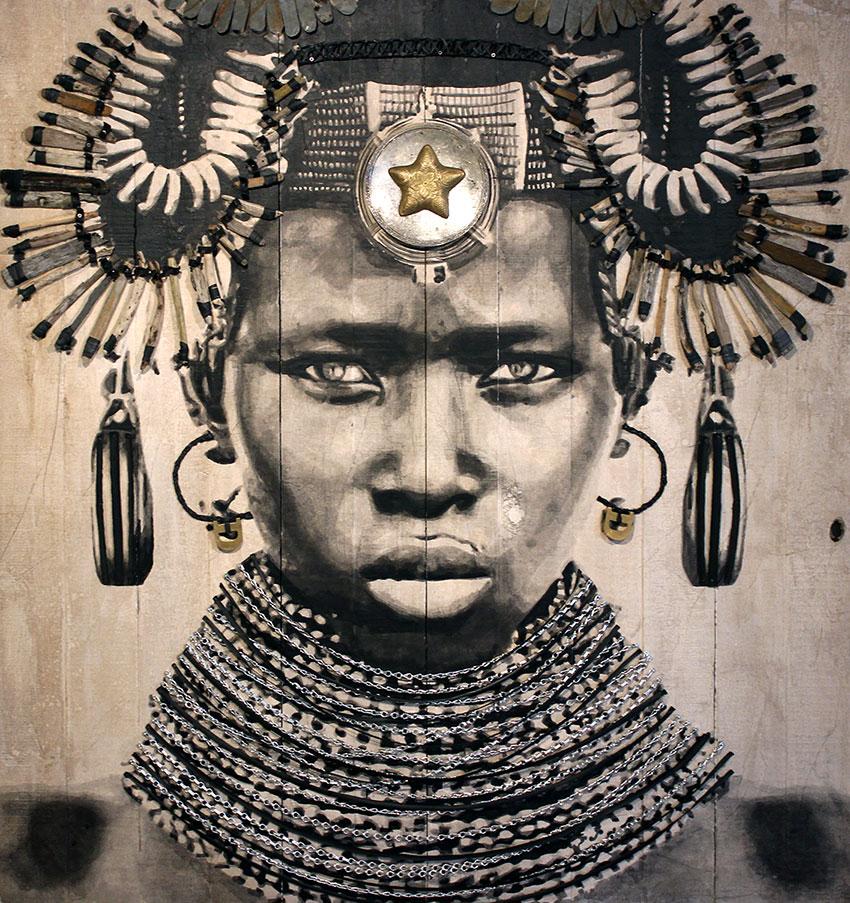 YZ street artiste portrait femme parures empress zoya RADAR art urbain poste Marianne - YZ, la street artiste engagée derrière la nouvelle Marianne