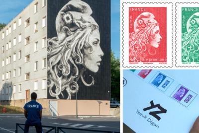 marianne timbre YZ RADAR streetart portrait femme 400x268 - YZ, la street artiste engagée derrière la nouvelle Marianne