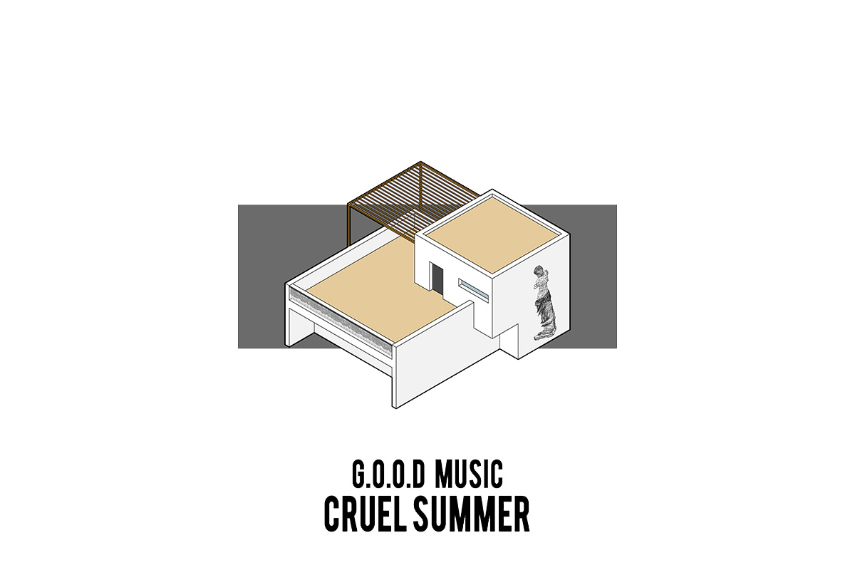 portorreal kanye west maison radar illustration album architecture cruel summer - « House of Ye » : les covers de Kanye West ré-interprétées en une série de dessins d'architecture