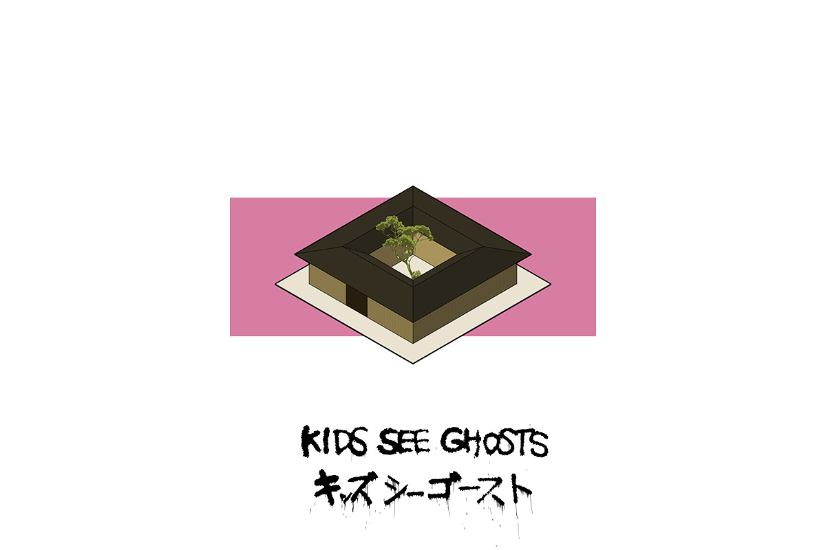 portorreal kanye west maison radar illustration album architecture kid see ghosts - « House of Ye » : les covers de Kanye West ré-interprétées en une série de dessins d'architecture