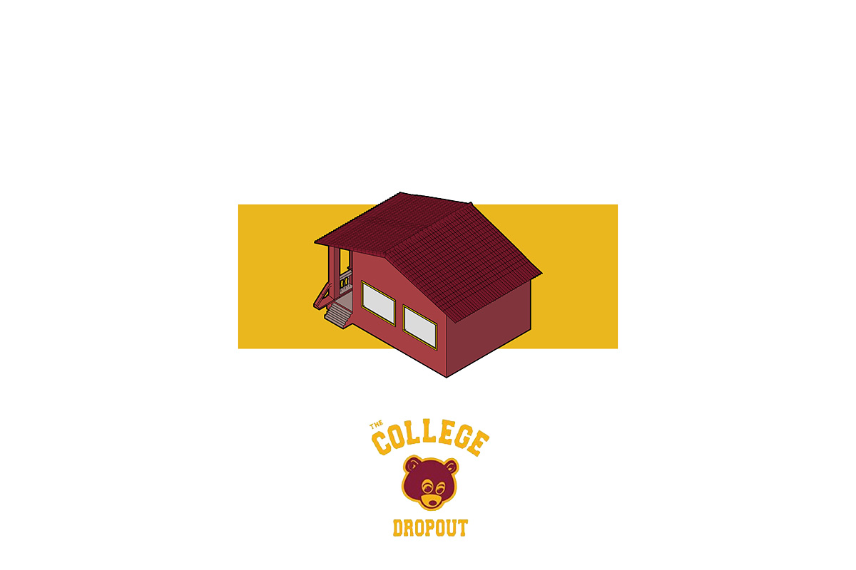 portorreal kanye west maison radar illustration album architecture the college dropout - « House of Ye » : les covers de Kanye West ré-interprétées en une série de dessins d'architecture