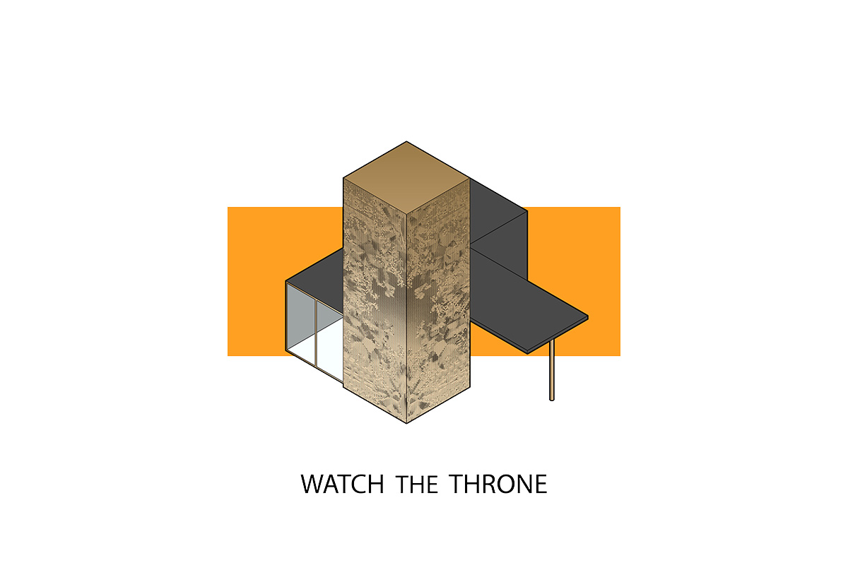 portorreal kanye west maison radar illustration album architecture watch the throne - « House of Ye » : les covers de Kanye West ré-interprétées en une série de dessins d'architecture