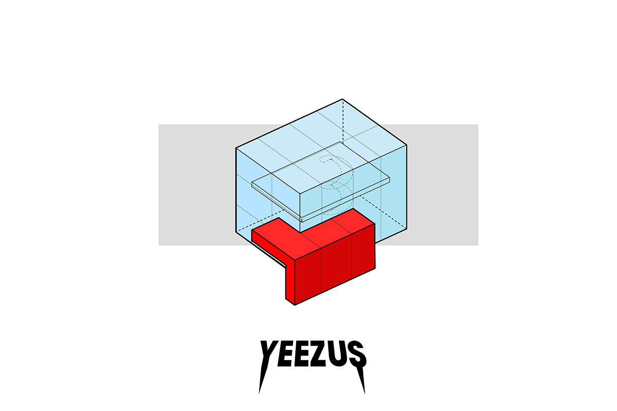 portorreal kanye west maison radar illustration album architecture yeezus - « House of Ye » : les covers de Kanye West ré-interprétées en une série de dessins d'architecture