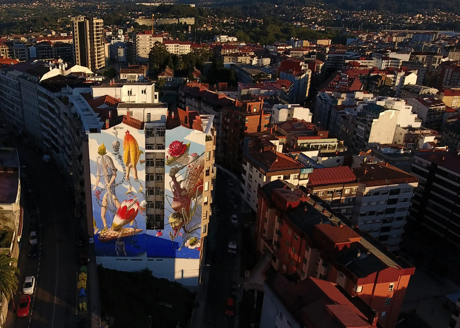 street art vigo city of colours mur vue ensemble ville Liqen - Destination Vigo, la nouvelle capitale espagnole du street art