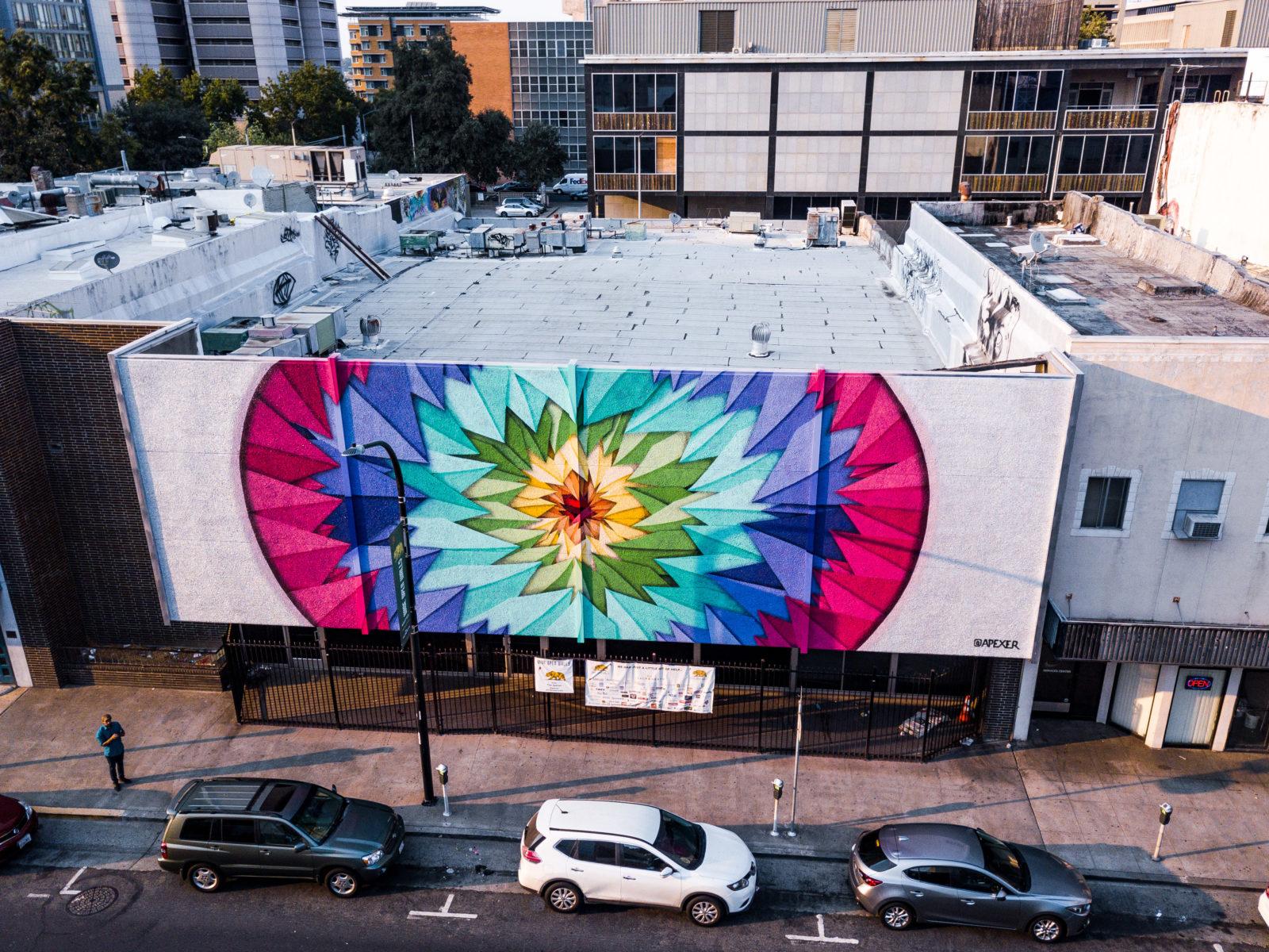 street art wide open walls sacramento californie USA festival mural Apexer  MERO radar - Les 10 murales les plus marquantes du festival Wide Open Walls Sacramento