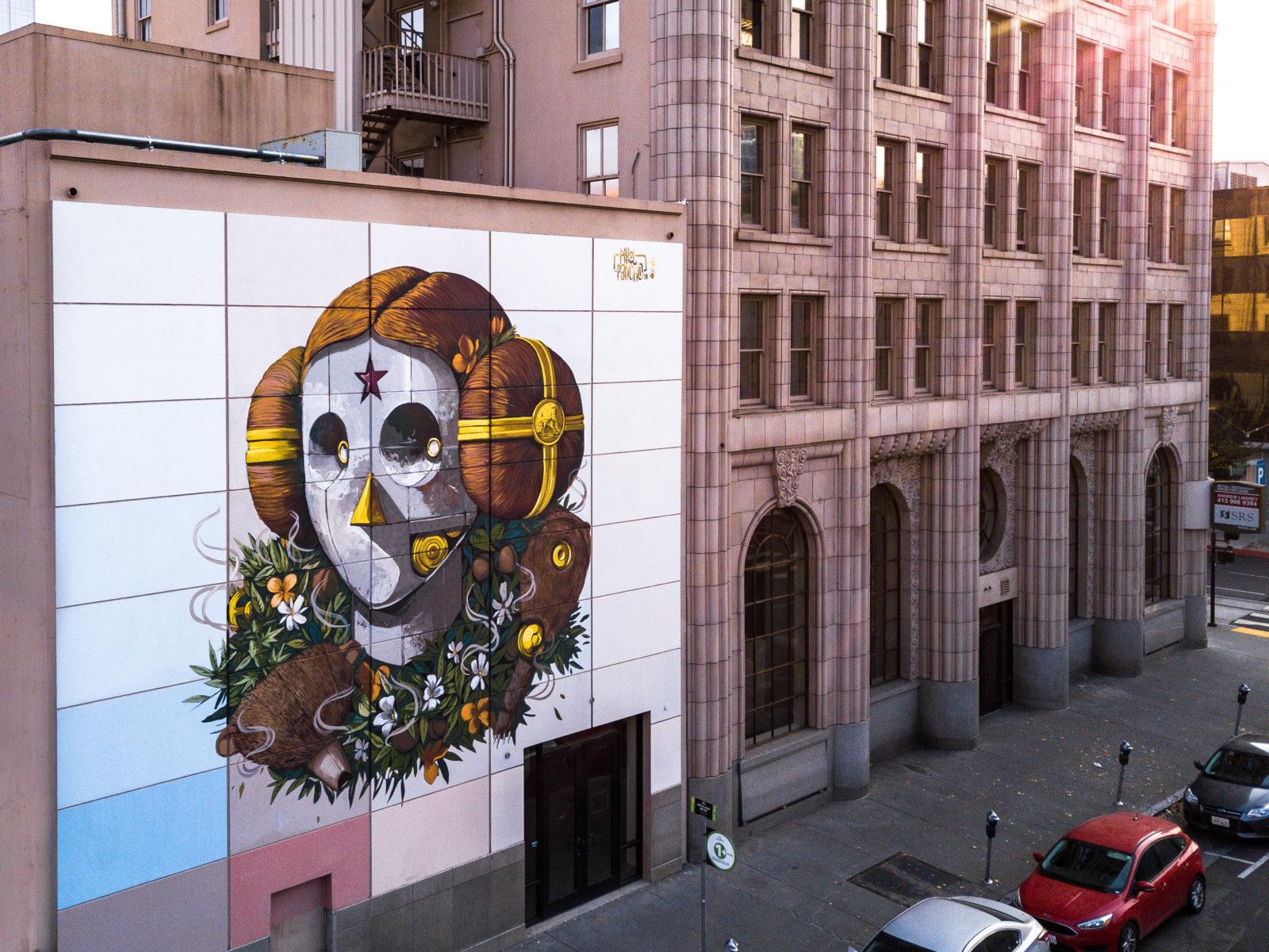 street art wide open walls sacramento californie USA festival mural Pixel Pancho  MERO radar - Les 10 murales les plus marquantes du festival Wide Open Walls Sacramento