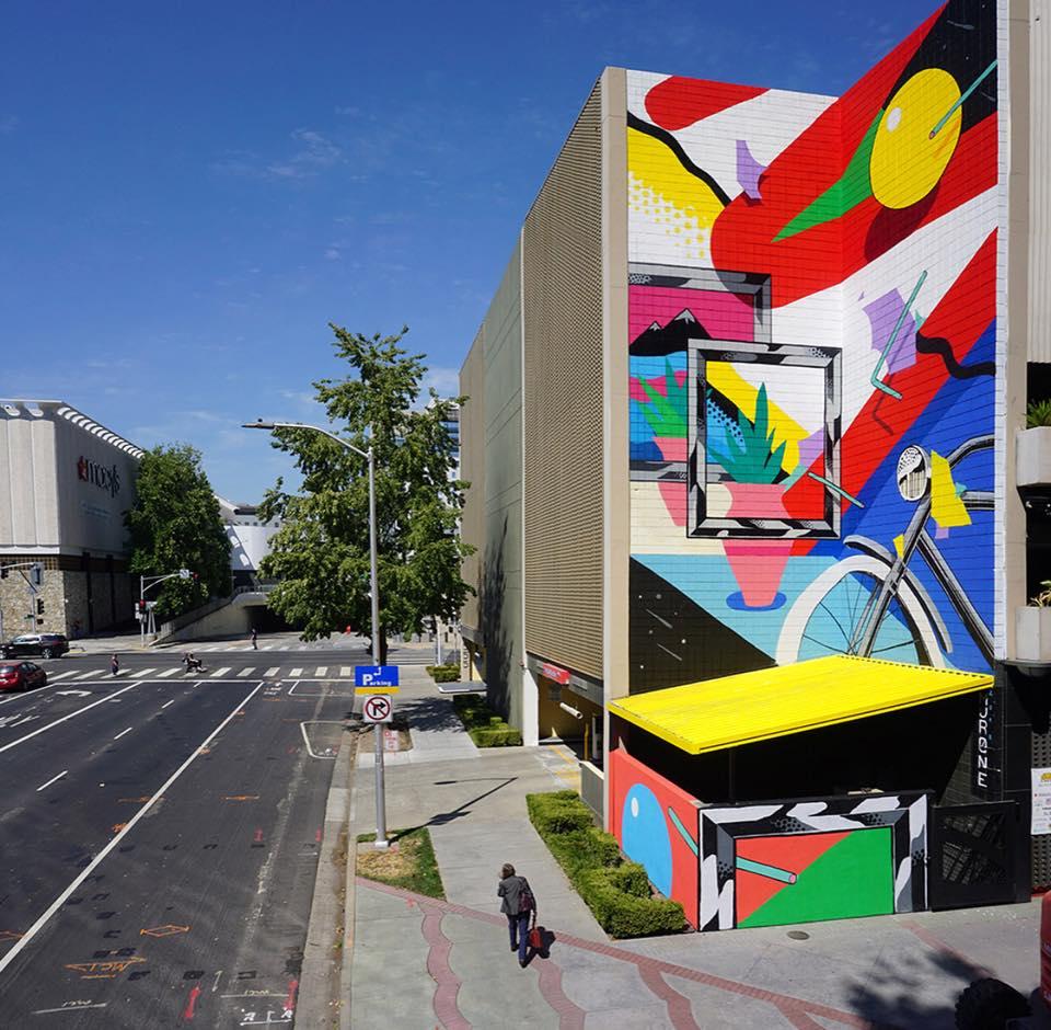 street art wide open walls sacramento californie USA festival mural geometrie Iker Muro radar - Les 10 murales les plus marquantes du festival Wide Open Walls Sacramento