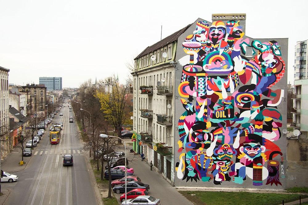 3ttman lodz street art pologne ville couleurs psyche - Lodz, une ville polonaise en pleine mutation artistique !