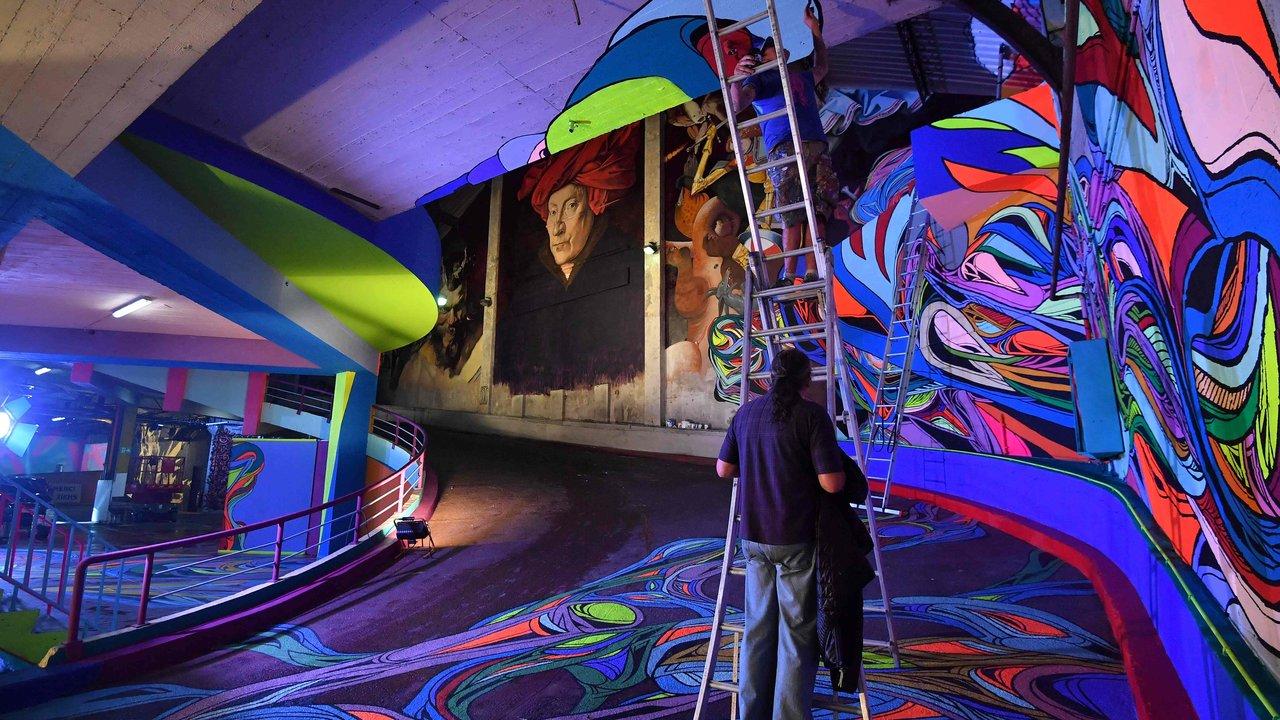 Delhaize Moliere 2 street art fresque exposition ixelles bruxelles - À Bruxelles, l'art urbain investit un ancien supermarché de 5 000 m² !