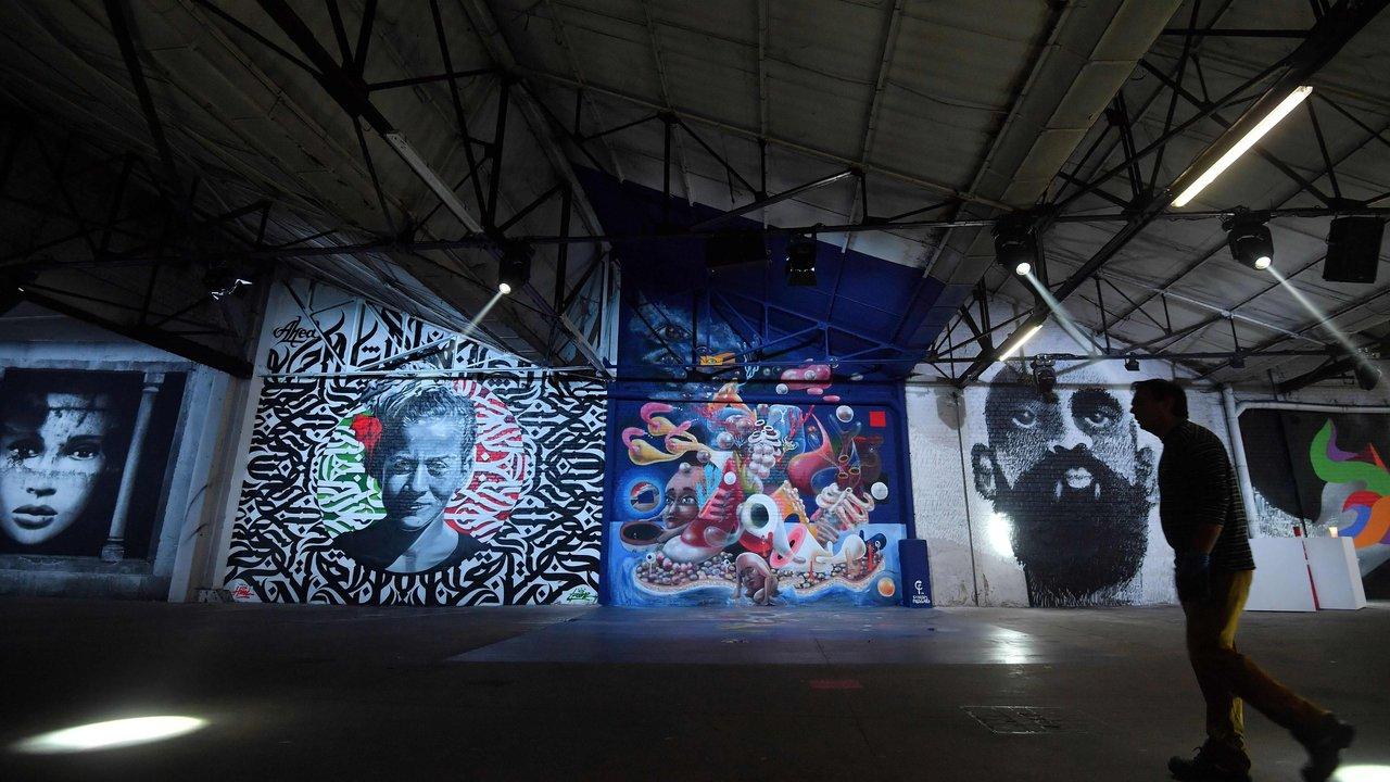 Delhaize Moliere 4 street art fresque exposition ixelles bruxelles - À Bruxelles, l'art urbain investit un ancien supermarché de 5 000 m² !