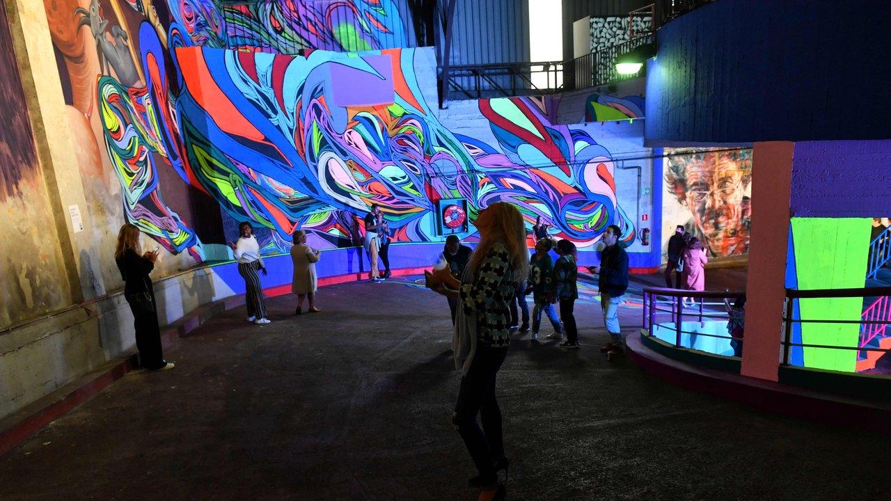 Delhaize Moliere 5 street art fresque exposition ixelles bruxelles - À Bruxelles, l'art urbain investit un ancien supermarché de 5 000 m² !