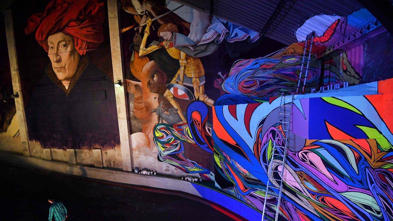 Delhaize moliere 1 street art fresque exposition ixelles bruxelles - À Bruxelles, l'art urbain investit un ancien supermarché de 5 000 m² !
