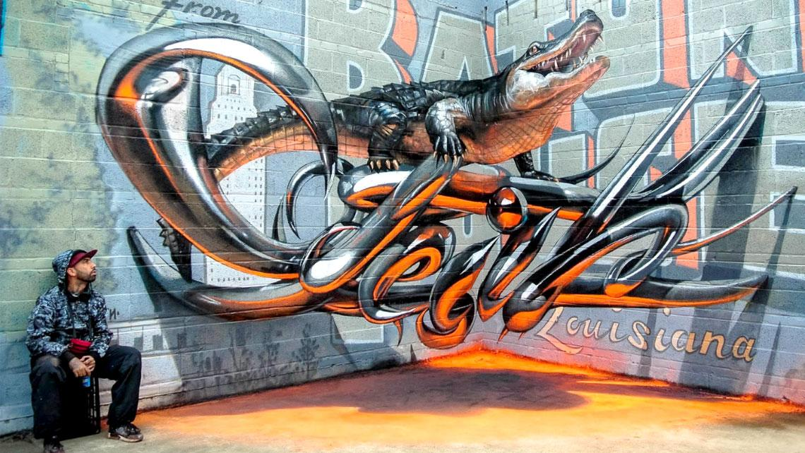 Epic Street Art That Will Slam Your Jaw Firmly On The Floor - Odeith fait jaillir par anamorphose des insectes géants !