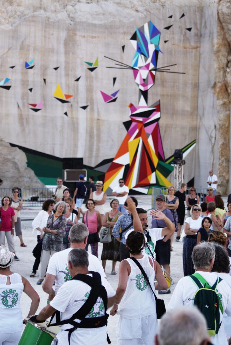 Karriere fresque streetart culture festival2 - En Bourgogne, des fresques murales monumentales réveillent une ancienne carrière !