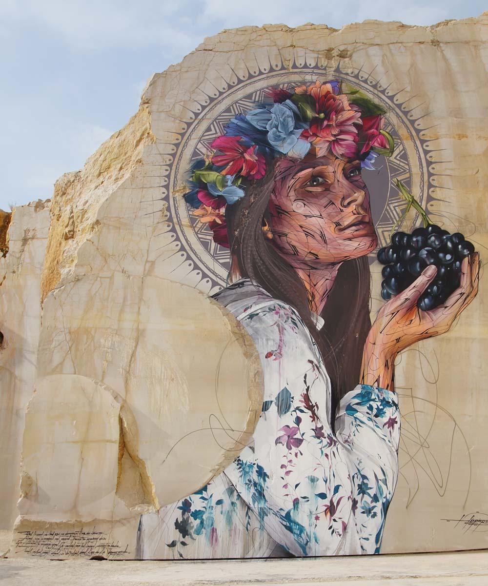 Karriere fresque streetart culture hopare - En Bourgogne, des fresques murales monumentales réveillent une ancienne carrière !