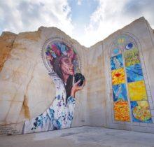 En Bourgogne, des fresques murales monumentales réveillent une ancienne carrière !