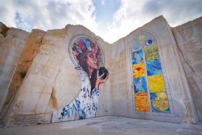 La Karriere fresque murales 400x268 - En Bourgogne, des fresques murales monumentales réveillent une ancienne carrière !