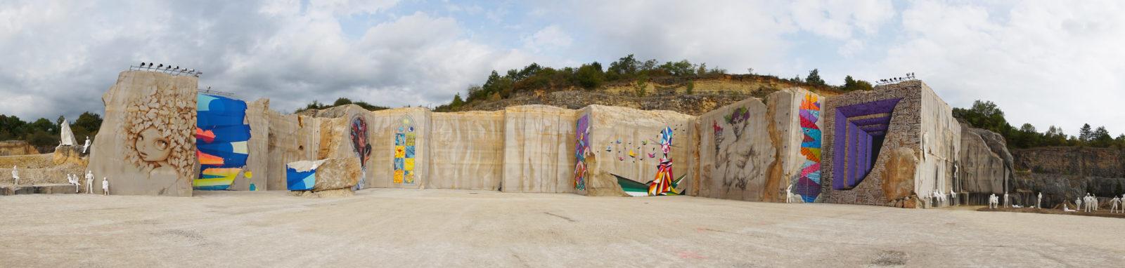 La Karriere panoramique - En Bourgogne, des fresques murales monumentales réveillent une ancienne carrière !