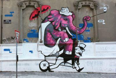street art montevideo histoire passe expression lutte pouvoir elephant homme LUD copyright MANU RIVIOIR 400x268 - Le street art à Montevideo ? Un art de vivre !