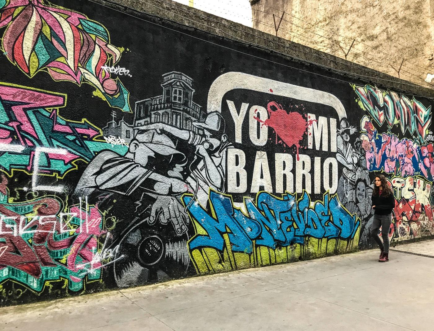 street art montevideo uruguay murale graff old school DISTER BR1 MOKEK CONDE PHER MIN8 copyright DESCONOCIDO - Le street art à Montevideo ? Un art de vivre !