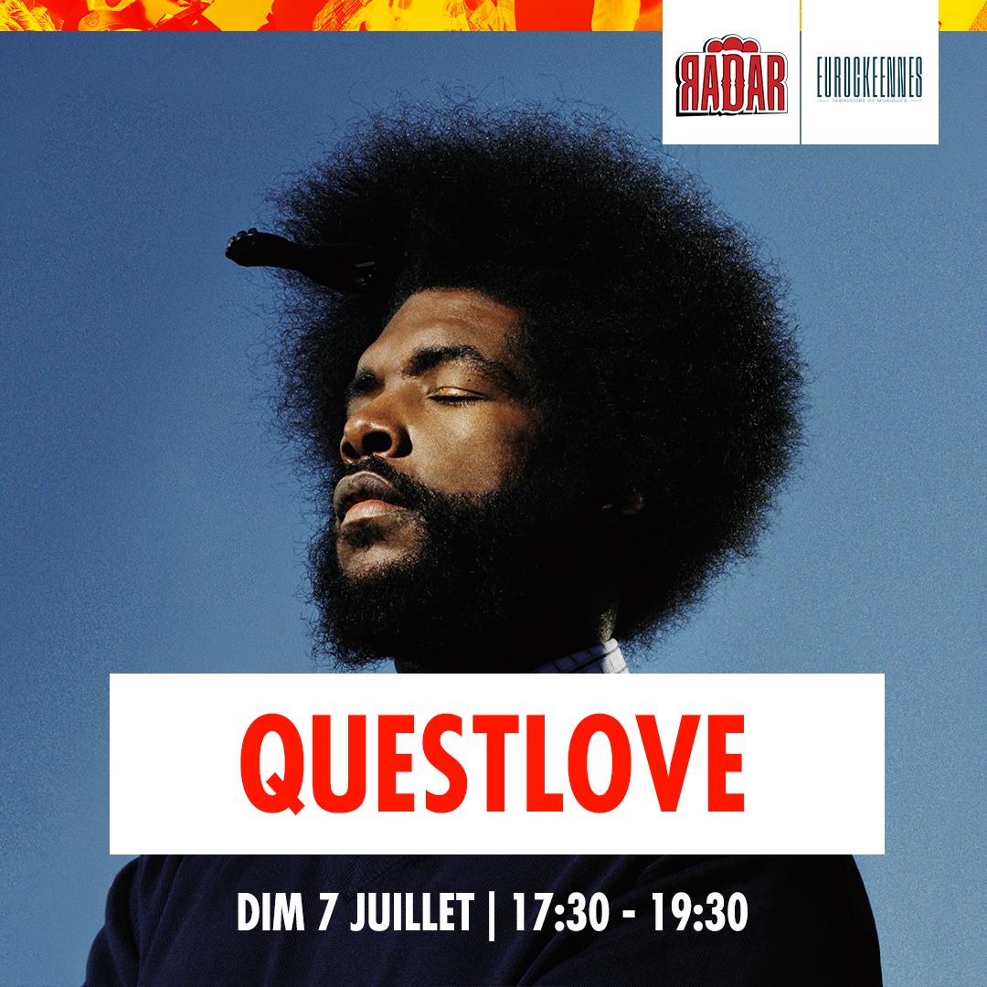 QUESTLOVEeurocks1080x1080 - Du rap, des lives, des dj sets : la programmation de la scène RADAR aux Eurocks